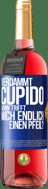 24,95 € Kostenloser Versand   Roséwein ROSÉ Ausgabe Amor Motherfucker, wann wird mein Schwarm? Blaue Markierung. Anpassbares Etikett Junger Wein Ernte 2020 Tempranillo