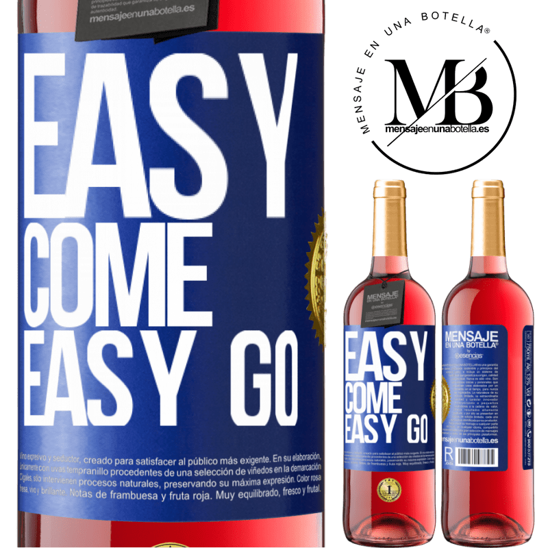 24,95 € Free Shipping   Rosé Wine ROSÉ Edition Easy come, easy go Blue Label. Customizable label Young wine Harvest 2020 Tempranillo