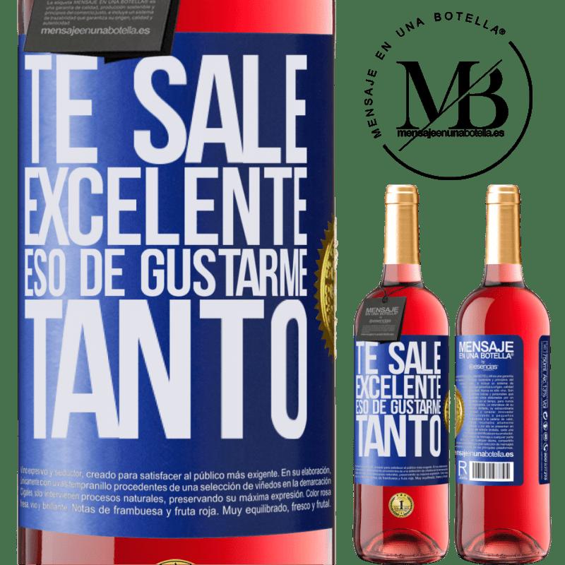 24,95 € Envoi gratuit | Vin rosé Édition ROSÉ Tu aimes tellement m'aimer tellement Étiquette Bleue. Étiquette personnalisable Vin jeune Récolte 2020 Tempranillo