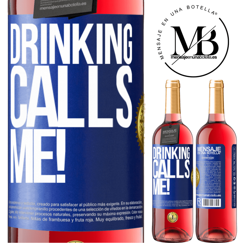 24,95 € Free Shipping | Rosé Wine ROSÉ Edition drinking calls me! Blue Label. Customizable label Young wine Harvest 2020 Tempranillo