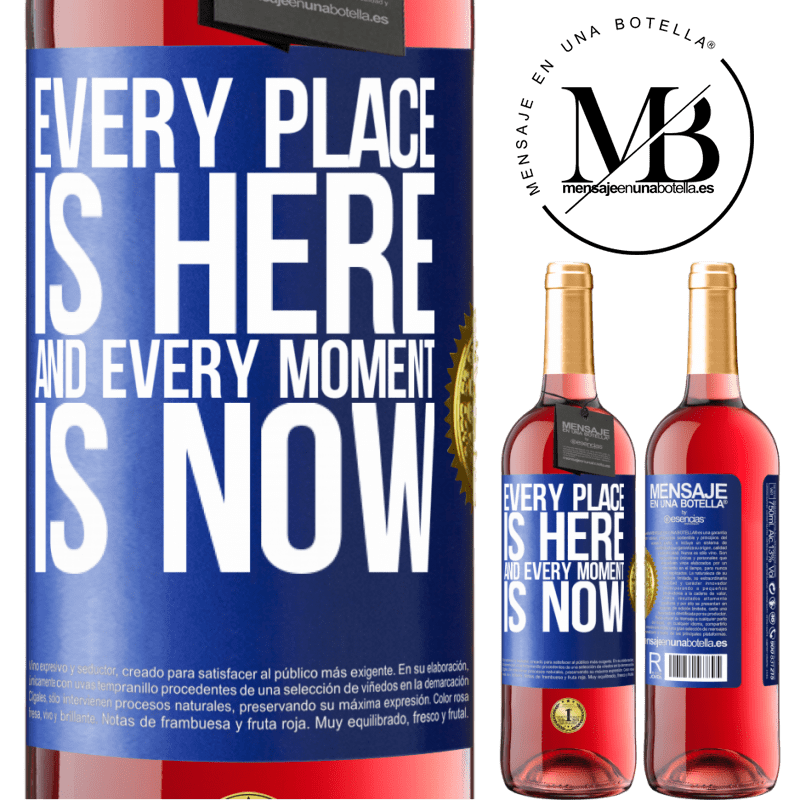 24,95 € Free Shipping | Rosé Wine ROSÉ Edition Every place is here and every moment is now Blue Label. Customizable label Young wine Harvest 2020 Tempranillo