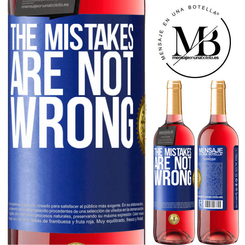 24,95 € Free Shipping   Rosé Wine ROSÉ Edition The mistakes are not wrong Blue Label. Customizable label Young wine Harvest 2020 Tempranillo