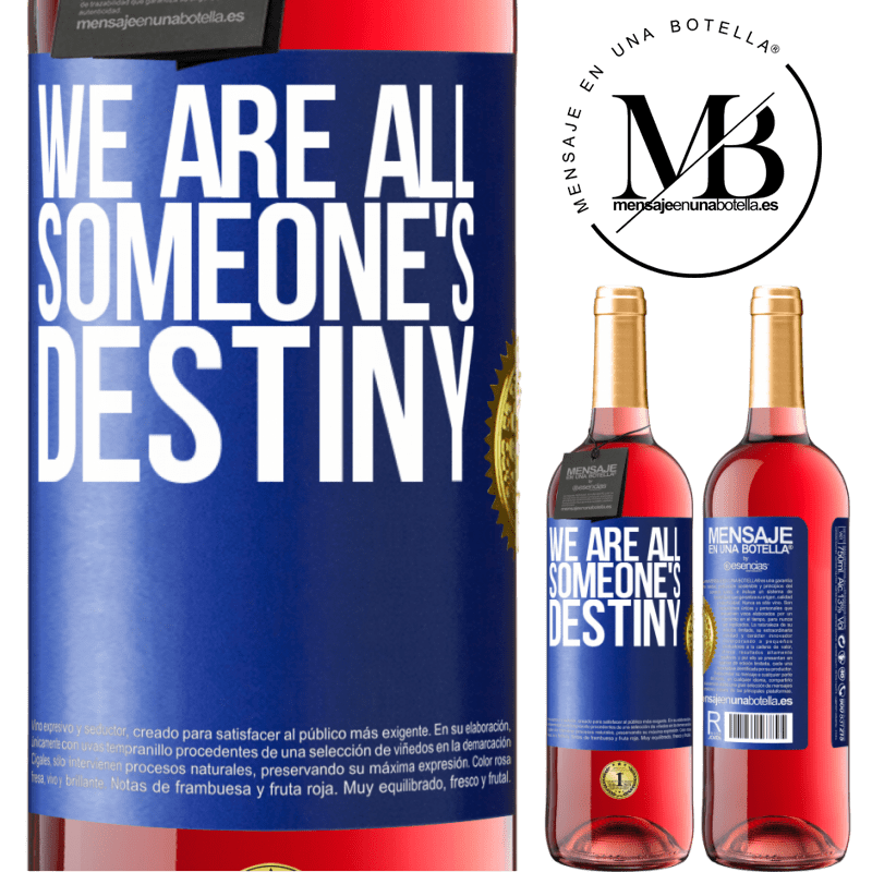 24,95 € Free Shipping | Rosé Wine ROSÉ Edition We are all someone's destiny Blue Label. Customizable label Young wine Harvest 2020 Tempranillo