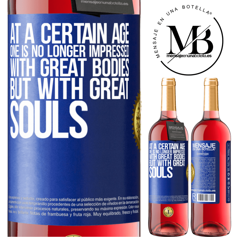 24,95 € Free Shipping   Rosé Wine ROSÉ Edition At a certain age one is no longer impressed with great bodies, but with great souls Blue Label. Customizable label Young wine Harvest 2020 Tempranillo