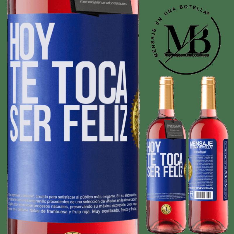 24,95 € Envoi gratuit   Vin rosé Édition ROSÉ Aujourd'hui, il faut être heureux Étiquette Bleue. Étiquette personnalisable Vin jeune Récolte 2020 Tempranillo