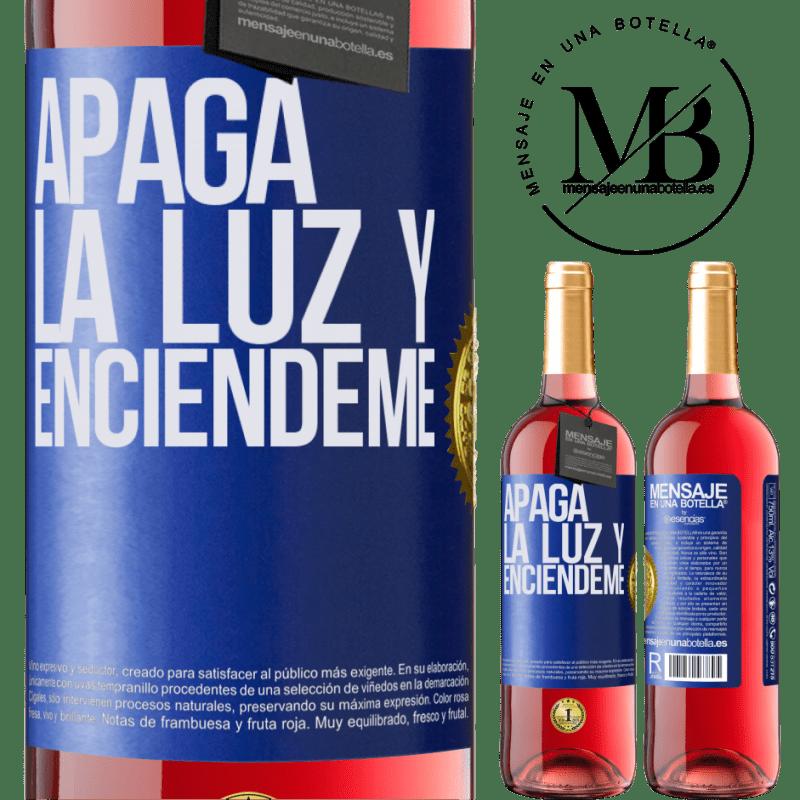 24,95 € Envoi gratuit   Vin rosé Édition ROSÉ Éteins la lumière et allume-moi Étiquette Bleue. Étiquette personnalisable Vin jeune Récolte 2020 Tempranillo
