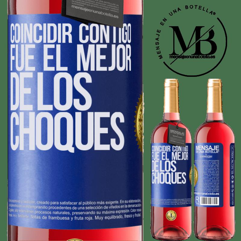 24,95 € Envoi gratuit   Vin rosé Édition ROSÉ Vous correspondre était le meilleur des accidents Étiquette Bleue. Étiquette personnalisable Vin jeune Récolte 2020 Tempranillo