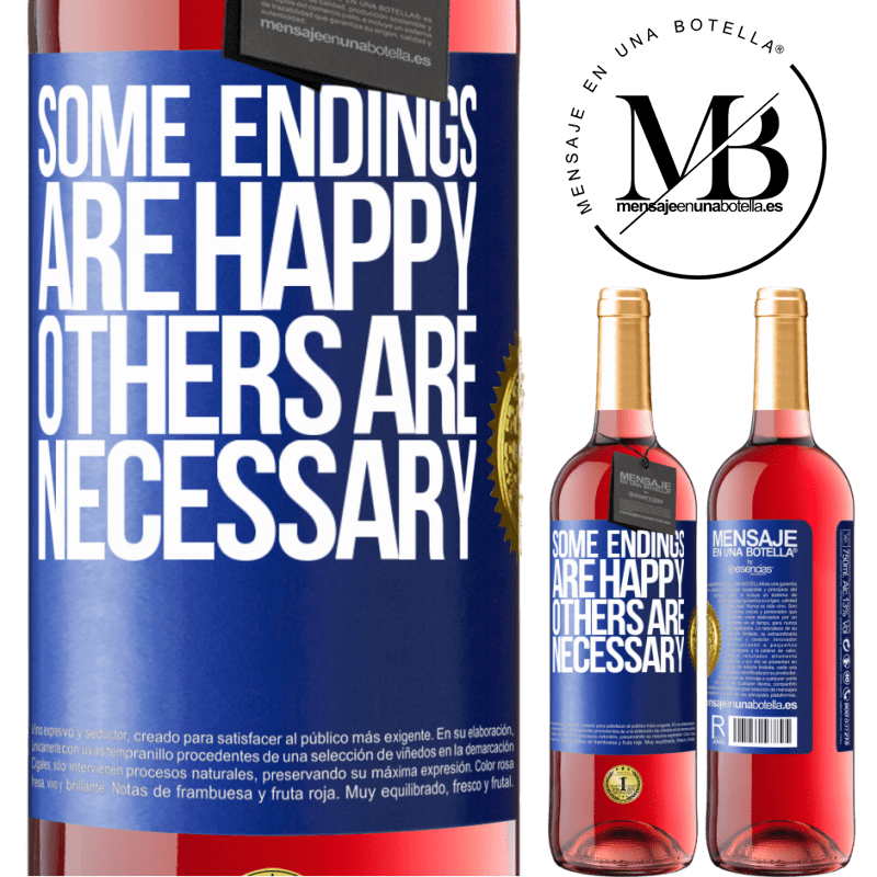 24,95 € Free Shipping | Rosé Wine ROSÉ Edition Some endings are happy. Others are necessary Blue Label. Customizable label Young wine Harvest 2020 Tempranillo
