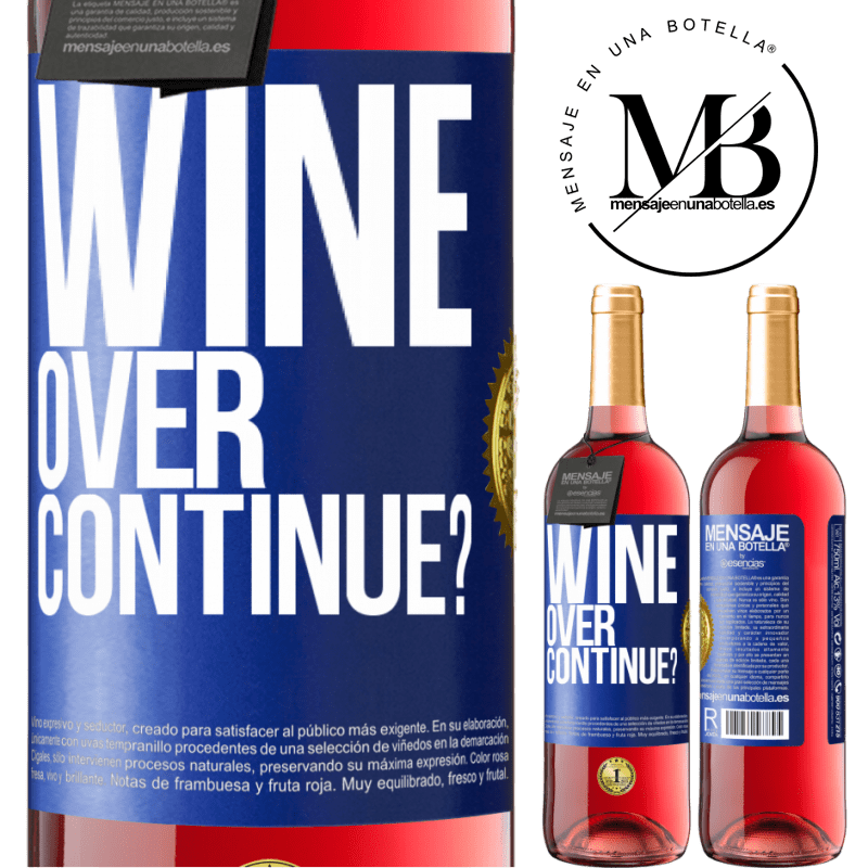 24,95 € Free Shipping   Rosé Wine ROSÉ Edition Wine over. Continue? Blue Label. Customizable label Young wine Harvest 2020 Tempranillo