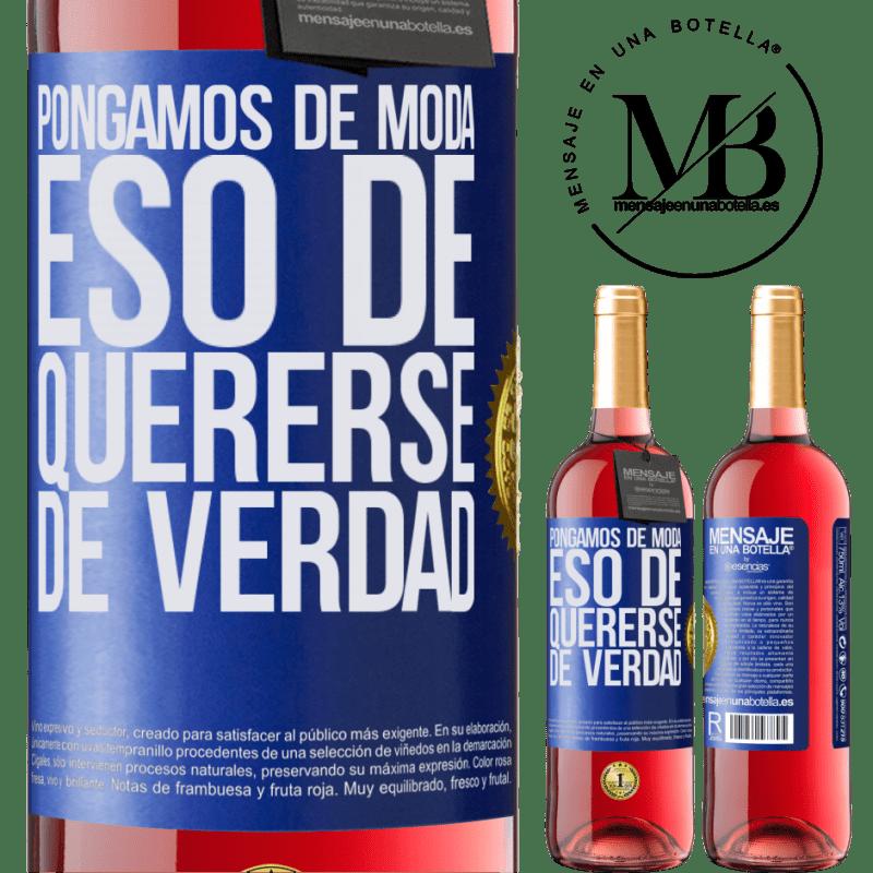 24,95 € Envoi gratuit | Vin rosé Édition ROSÉ Mettons cette mode vraiment amoureuse Étiquette Bleue. Étiquette personnalisable Vin jeune Récolte 2020 Tempranillo