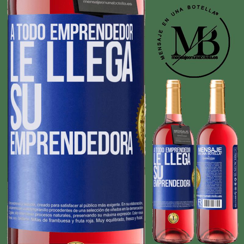 24,95 € Envoi gratuit   Vin rosé Édition ROSÉ Chaque entrepreneur obtient son entrepreneur Étiquette Bleue. Étiquette personnalisable Vin jeune Récolte 2020 Tempranillo