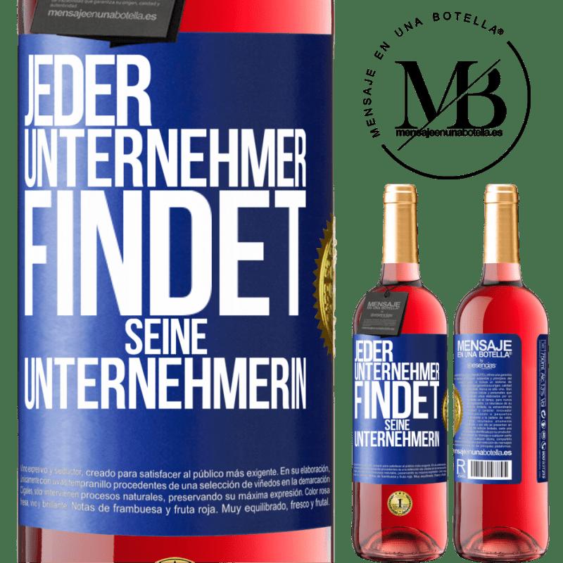24,95 € Kostenloser Versand | Roséwein ROSÉ Ausgabe Jeder Unternehmer bekommt seinen Unternehmer Blaue Markierung. Anpassbares Etikett Junger Wein Ernte 2020 Tempranillo