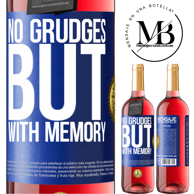 24,95 € Free Shipping | Rosé Wine ROSÉ Edition No grudges, but with memory Blue Label. Customizable label Young wine Harvest 2020 Tempranillo
