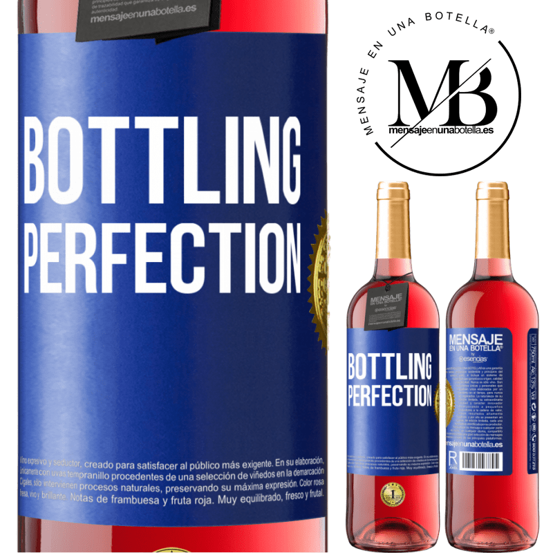 24,95 € Free Shipping | Rosé Wine ROSÉ Edition Bottling perfection Blue Label. Customizable label Young wine Harvest 2020 Tempranillo
