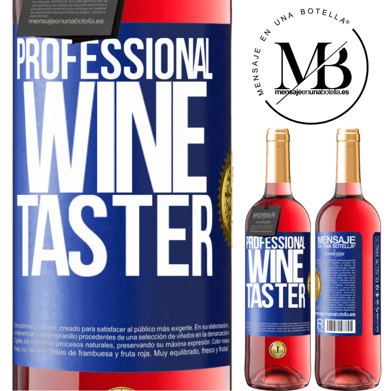 24,95 € Free Shipping   Rosé Wine ROSÉ Edition Professional wine taster Blue Label. Customizable label Young wine Harvest 2020 Tempranillo