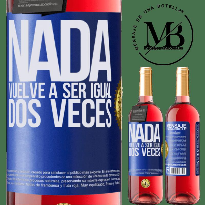 24,95 € Envoi gratuit   Vin rosé Édition ROSÉ Rien n'est plus pareil deux fois Étiquette Bleue. Étiquette personnalisable Vin jeune Récolte 2020 Tempranillo