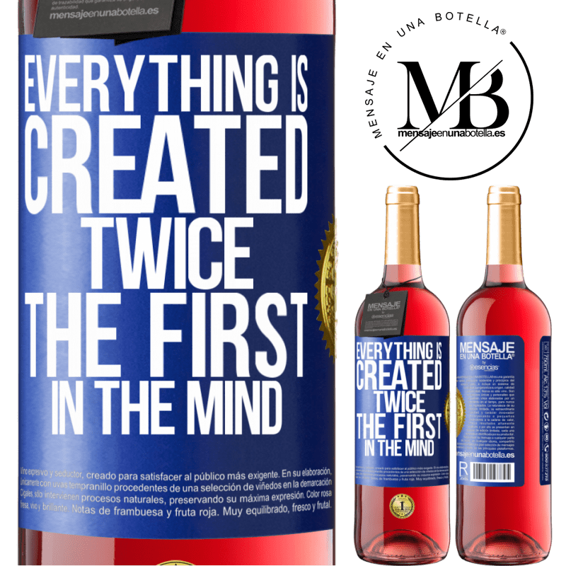 24,95 € Free Shipping | Rosé Wine ROSÉ Edition Everything is created twice. The first in the mind Blue Label. Customizable label Young wine Harvest 2020 Tempranillo