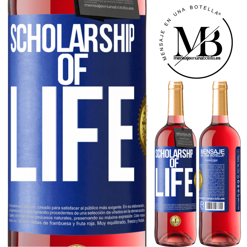 24,95 € Free Shipping | Rosé Wine ROSÉ Edition Scholarship of life Blue Label. Customizable label Young wine Harvest 2020 Tempranillo