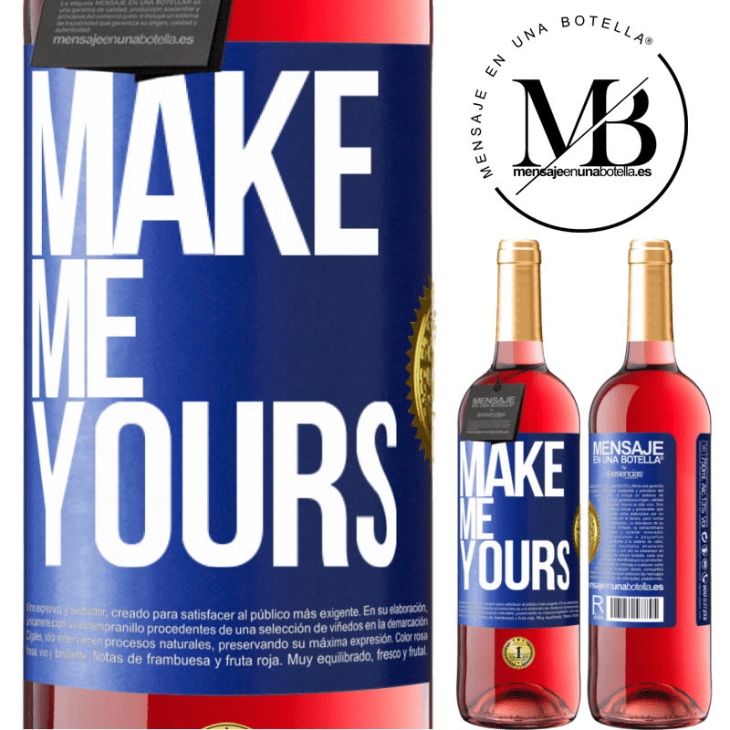 24,95 € Free Shipping   Rosé Wine ROSÉ Edition Make me yours Blue Label. Customizable label Young wine Harvest 2020 Tempranillo
