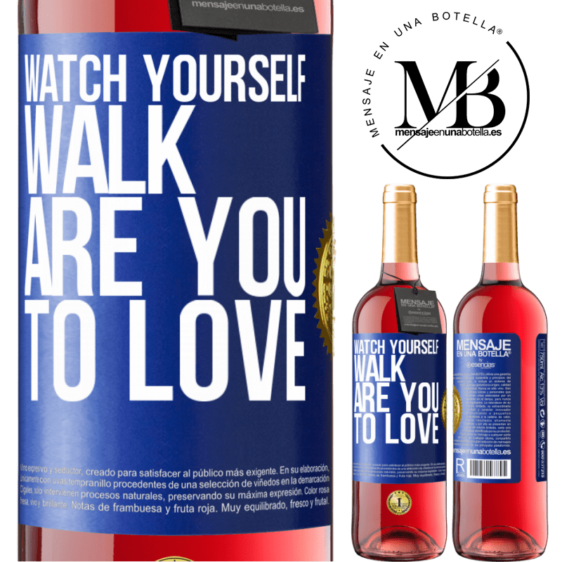 24,95 € Free Shipping   Rosé Wine ROSÉ Edition Watch yourself walk. Are you to love Blue Label. Customizable label Young wine Harvest 2020 Tempranillo