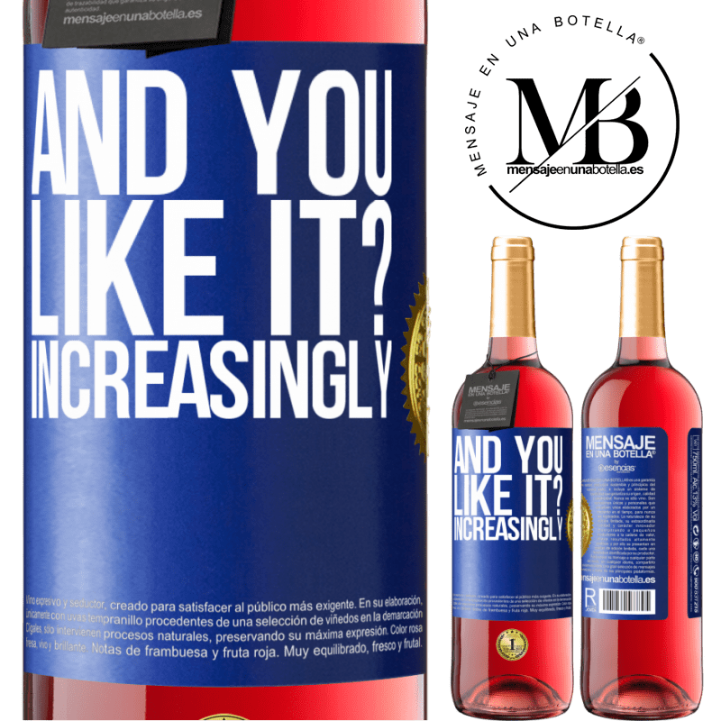 24,95 € Free Shipping   Rosé Wine ROSÉ Edition and you like it? Increasingly Blue Label. Customizable label Young wine Harvest 2020 Tempranillo