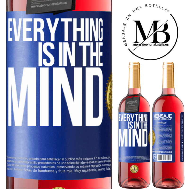 24,95 € Free Shipping | Rosé Wine ROSÉ Edition Everything is in the mind Blue Label. Customizable label Young wine Harvest 2020 Tempranillo