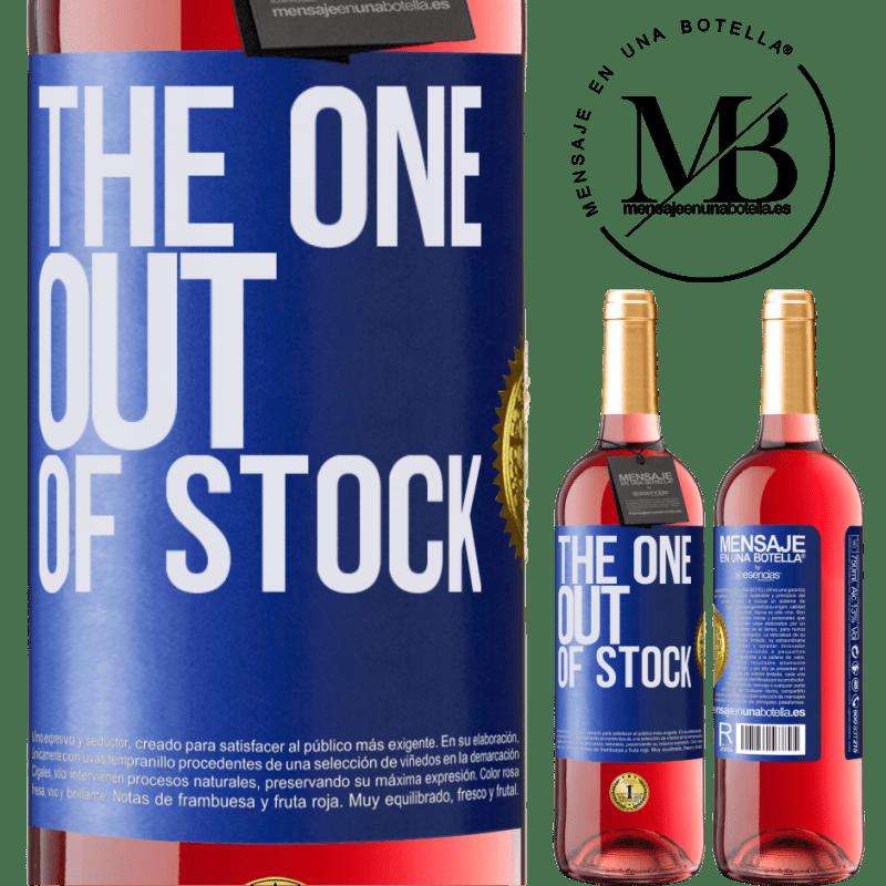 24,95 € Envoi gratuit | Vin rosé Édition ROSÉ The one out of stock Étiquette Bleue. Étiquette personnalisable Vin jeune Récolte 2020 Tempranillo