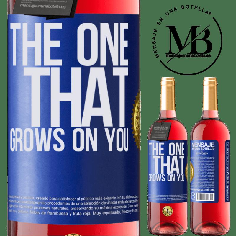 24,95 € Envoi gratuit   Vin rosé Édition ROSÉ The one that grows on you Étiquette Bleue. Étiquette personnalisable Vin jeune Récolte 2020 Tempranillo