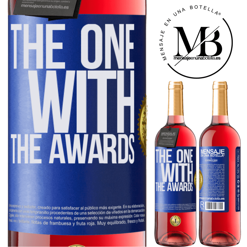 24,95 € Envoi gratuit   Vin rosé Édition ROSÉ The one with the awards Étiquette Bleue. Étiquette personnalisable Vin jeune Récolte 2020 Tempranillo