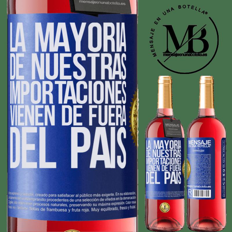 24,95 € Envoi gratuit   Vin rosé Édition ROSÉ La plupart de nos importations proviennent de l'extérieur du pays Étiquette Bleue. Étiquette personnalisable Vin jeune Récolte 2020 Tempranillo