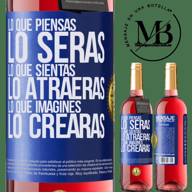 24,95 € Envoi gratuit | Vin rosé Édition ROSÉ Ce que vous pensez être, ce que vous pensez vous attirer, ce que vous imaginez créer Étiquette Bleue. Étiquette personnalisable Vin jeune Récolte 2020 Tempranillo
