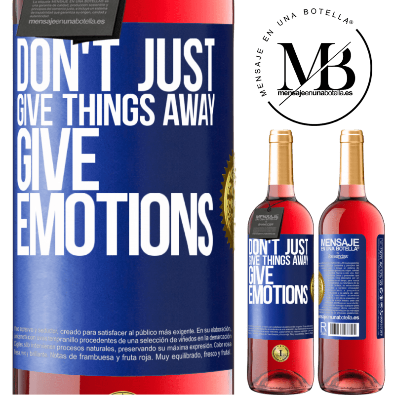 24,95 € Free Shipping | Rosé Wine ROSÉ Edition Don't just give things away, give emotions Blue Label. Customizable label Young wine Harvest 2020 Tempranillo
