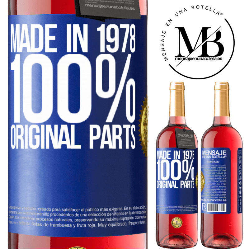 24,95 € Free Shipping | Rosé Wine ROSÉ Edition Made in 1978. 100% original parts Blue Label. Customizable label Young wine Harvest 2020 Tempranillo