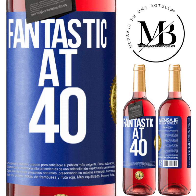 24,95 € Free Shipping   Rosé Wine ROSÉ Edition Fantastic at 40 Blue Label. Customizable label Young wine Harvest 2020 Tempranillo