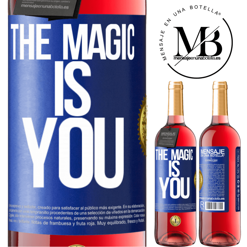 24,95 € Free Shipping | Rosé Wine ROSÉ Edition The magic is you Blue Label. Customizable label Young wine Harvest 2020 Tempranillo