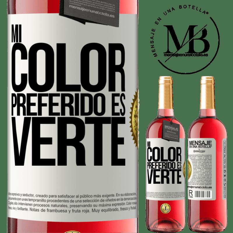24,95 € Envoi gratuit | Vin rosé Édition ROSÉ Mi color preferido es: verte Étiquette Blanche. Étiquette personnalisable Vin jeune Récolte 2020 Tempranillo