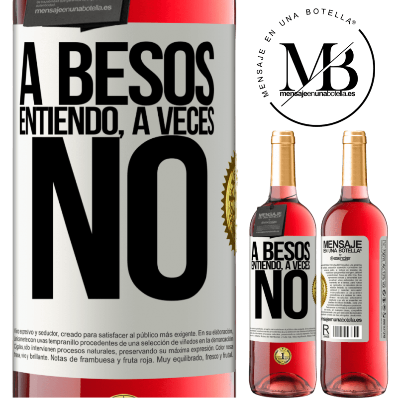 24,95 € Envoi gratuit | Vin rosé Édition ROSÉ A besos entiendo, a veces no Étiquette Blanche. Étiquette personnalisable Vin jeune Récolte 2020 Tempranillo