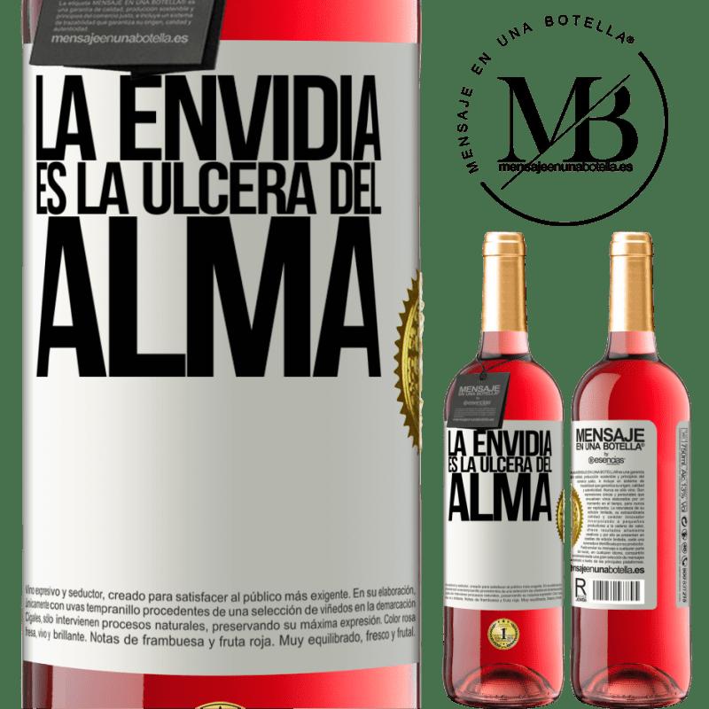 24,95 € Envoi gratuit | Vin rosé Édition ROSÉ L'envie est l'ulcère de l'âme Étiquette Blanche. Étiquette personnalisable Vin jeune Récolte 2020 Tempranillo