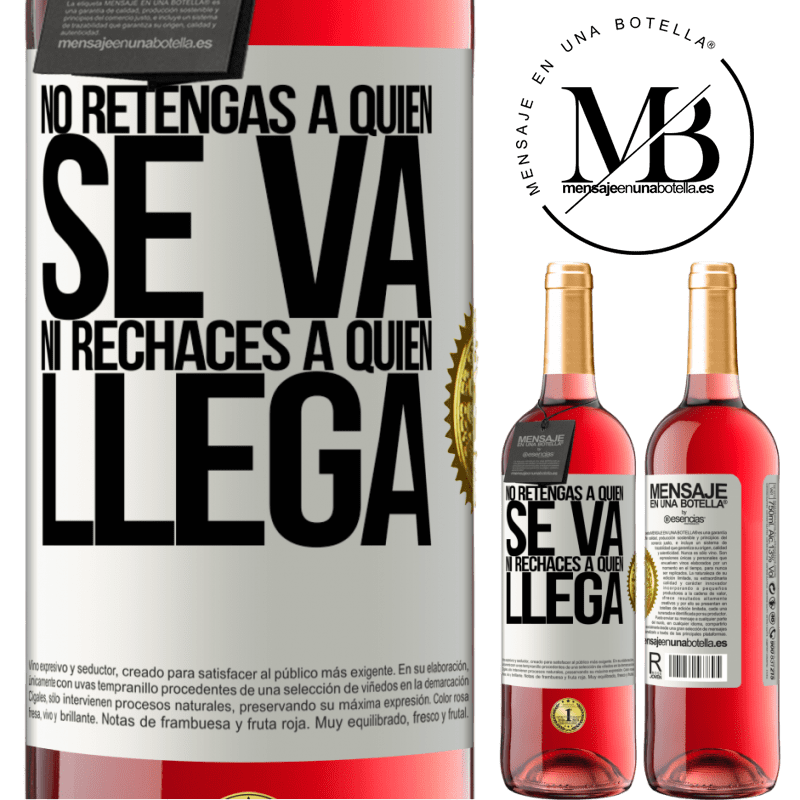 24,95 € Envoi gratuit   Vin rosé Édition ROSÉ Ne retenez pas qui part et ne rejetez pas qui vient Étiquette Blanche. Étiquette personnalisable Vin jeune Récolte 2020 Tempranillo