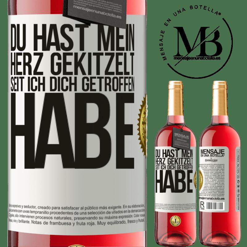 24,95 € Kostenloser Versand   Roséwein ROSÉ Ausgabe Du hast mein Herz gekitzelt, seit ich dich getroffen habe Weißes Etikett. Anpassbares Etikett Junger Wein Ernte 2020 Tempranillo