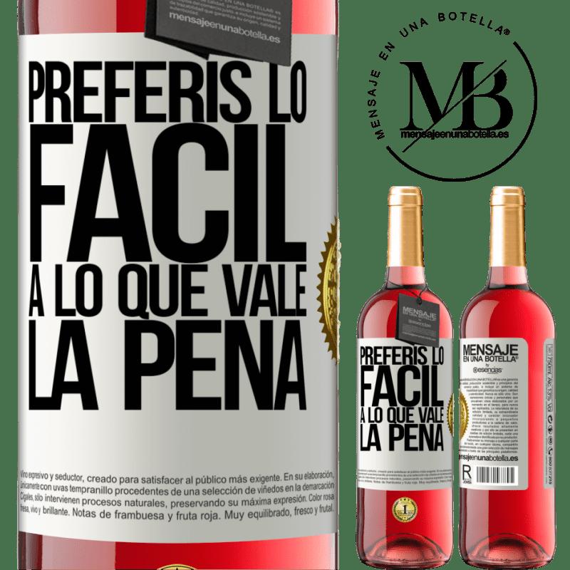 24,95 € Envoi gratuit | Vin rosé Édition ROSÉ Vous préférez le facile à la valeur Étiquette Blanche. Étiquette personnalisable Vin jeune Récolte 2020 Tempranillo