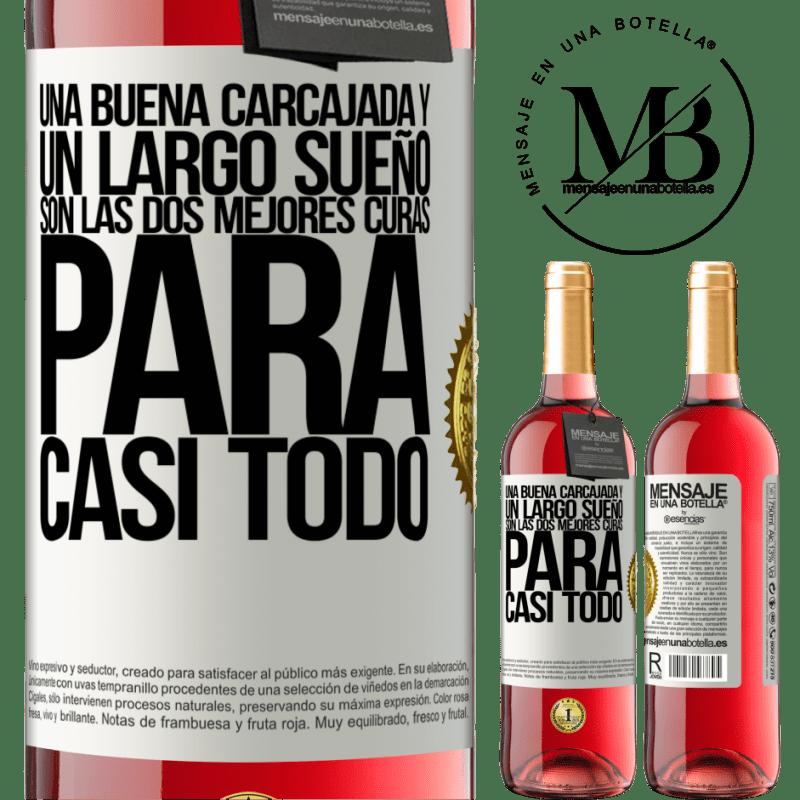 24,95 € Envoi gratuit | Vin rosé Édition ROSÉ Un bon rire et un long rêve sont les deux meilleurs remèdes pour presque tout Étiquette Blanche. Étiquette personnalisable Vin jeune Récolte 2020 Tempranillo