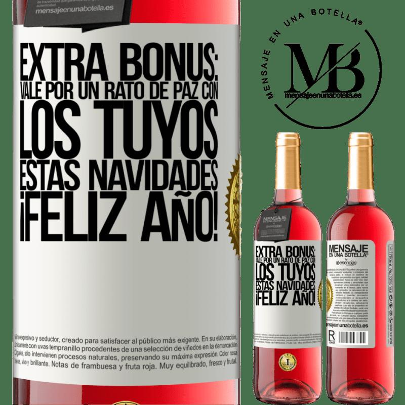 24,95 € Envoi gratuit   Vin rosé Édition ROSÉ Bonus supplémentaire: Ok pour un moment de paix avec le vôtre ce Noël. Bonne année! Étiquette Blanche. Étiquette personnalisable Vin jeune Récolte 2020 Tempranillo