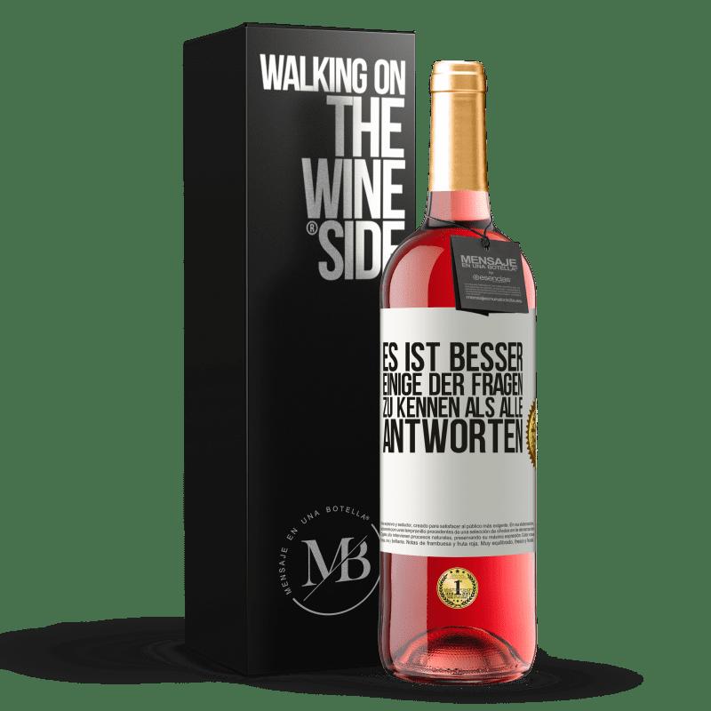 24,95 € Kostenloser Versand   Roséwein ROSÉ Ausgabe Es ist besser, einige der Fragen zu kennen als alle Antworten Weißes Etikett. Anpassbares Etikett Junger Wein Ernte 2020 Tempranillo
