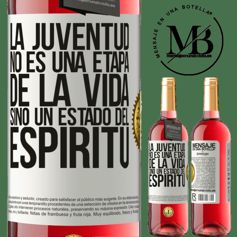 24,95 € Envoi gratuit   Vin rosé Édition ROSÉ La jeunesse n'est pas une étape de la vie, mais un état d'esprit Étiquette Blanche. Étiquette personnalisable Vin jeune Récolte 2020 Tempranillo