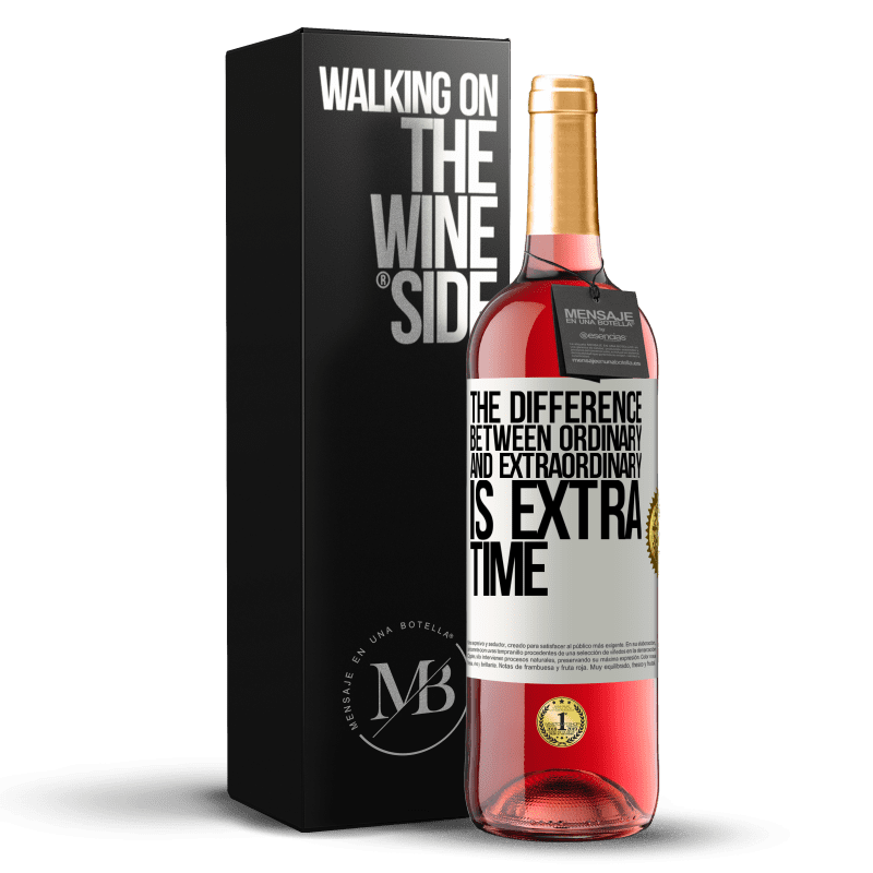 24,95 € Free Shipping | Rosé Wine ROSÉ Edition The difference between ordinary and extraordinary is EXTRA time White Label. Customizable label Young wine Harvest 2020 Tempranillo