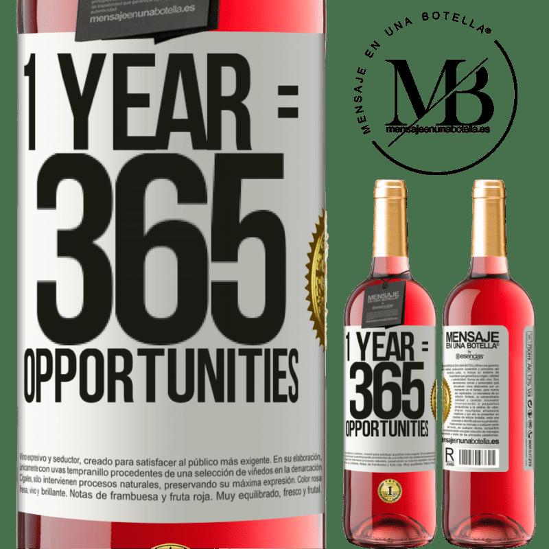 24,95 € Envoi gratuit | Vin rosé Édition ROSÉ 1 year 365 opportunities Étiquette Blanche. Étiquette personnalisable Vin jeune Récolte 2020 Tempranillo