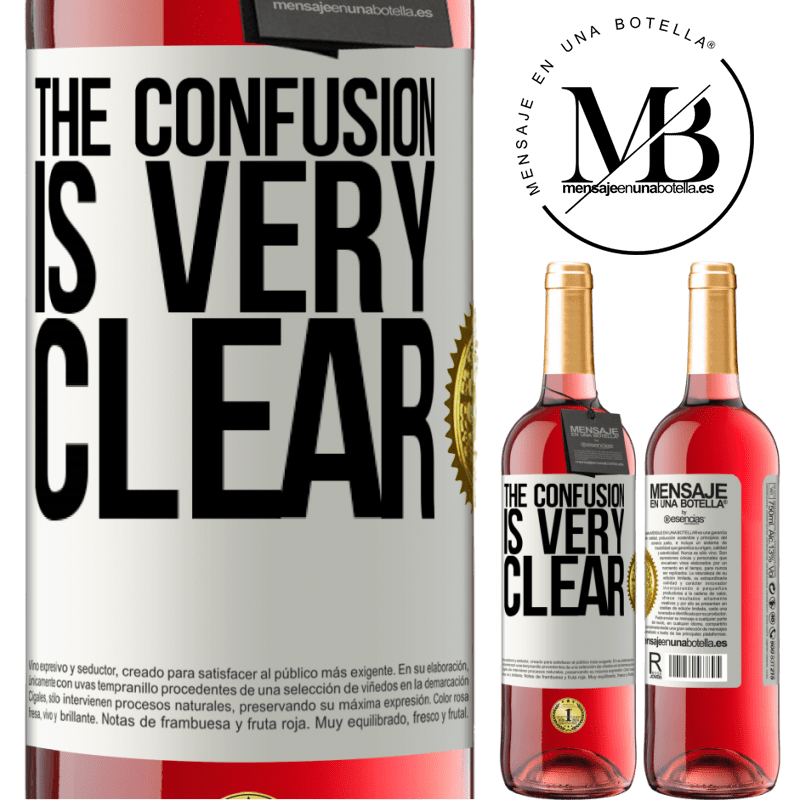 24,95 € Free Shipping | Rosé Wine ROSÉ Edition The confusion is very clear White Label. Customizable label Young wine Harvest 2020 Tempranillo