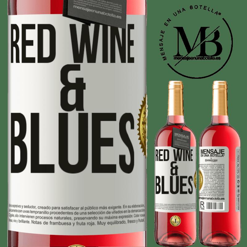24,95 € Envoi gratuit | Vin rosé Édition ROSÉ Red wine & Blues Étiquette Blanche. Étiquette personnalisable Vin jeune Récolte 2020 Tempranillo