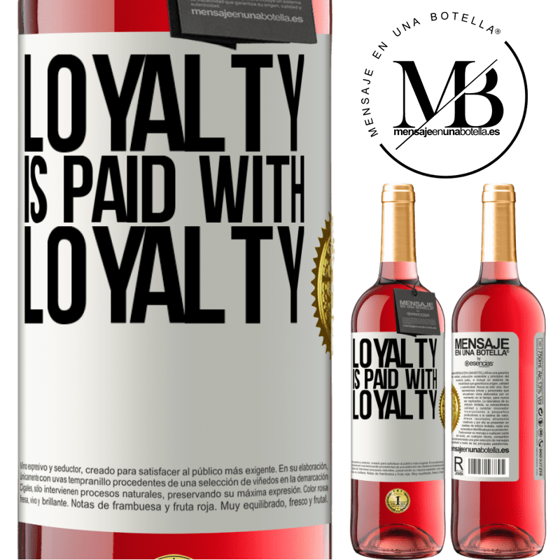 24,95 € Free Shipping   Rosé Wine ROSÉ Edition Loyalty is paid with loyalty White Label. Customizable label Young wine Harvest 2020 Tempranillo